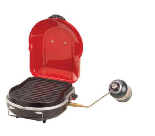 Coleman Fold-N-Go Propane Grill convenient to carry with metal handle on top