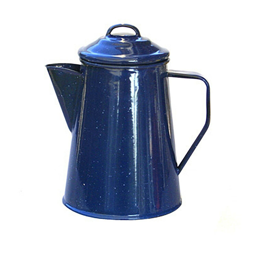8 Cup Enamel Coffee Percolator for that early morning wakeup at the campsite!