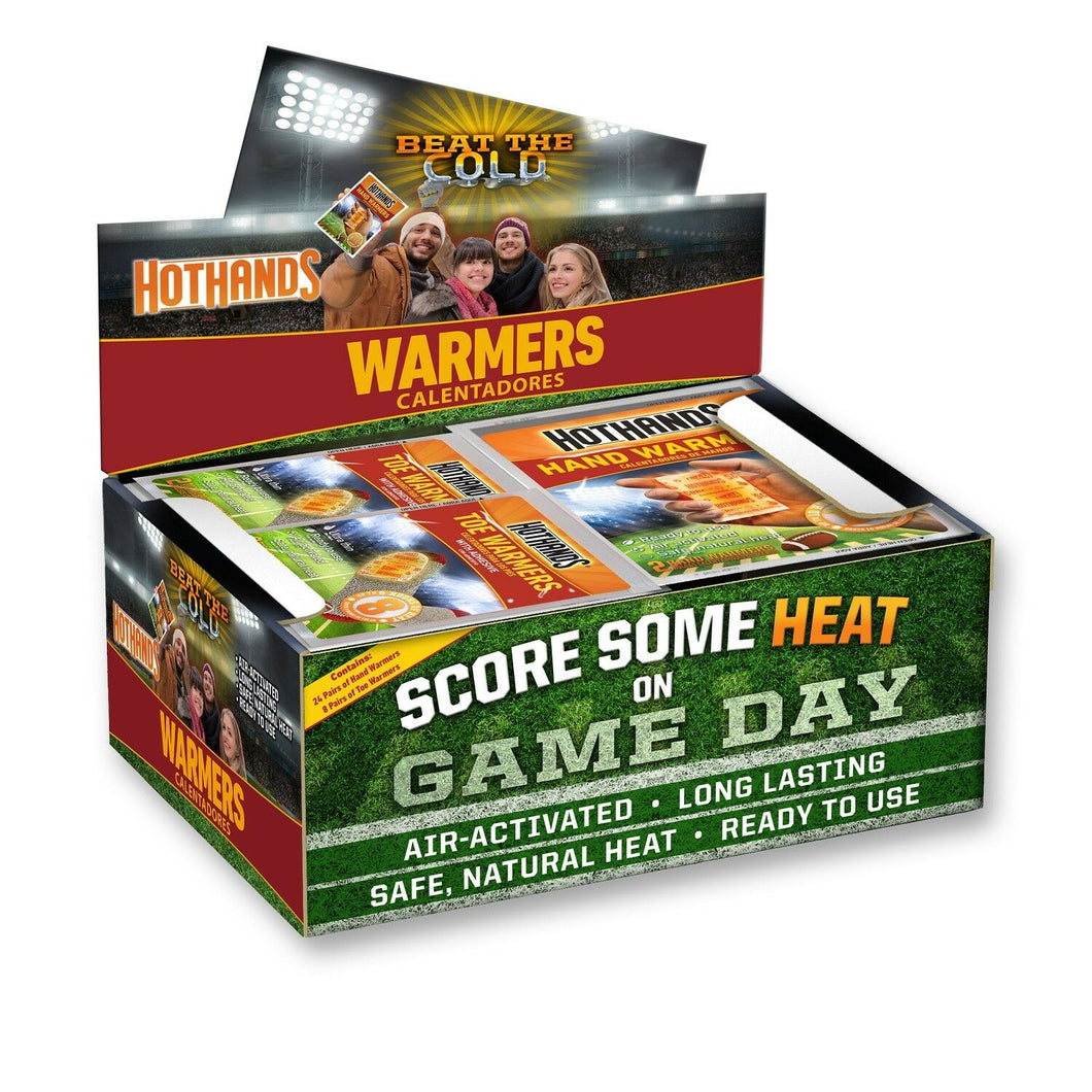 Hand and Toe  warmers with game theme design provide up to 8-10 hours warming