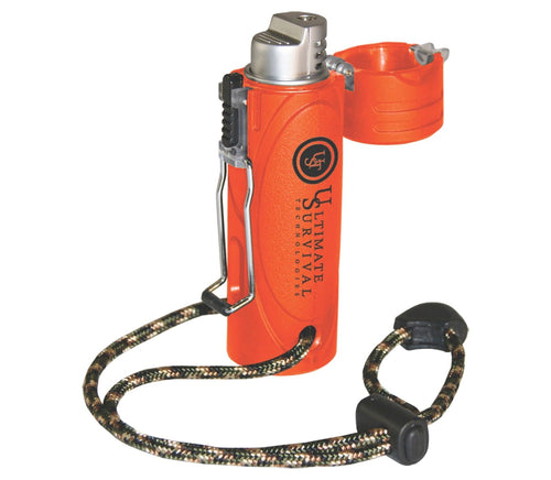 Trekker stormproof lighter w/extra large fuel tank over 1000 ignitions camp must