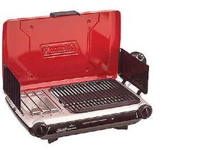 PerfectFlow Grill Stove Combo can be used as a grill & stove at the same time