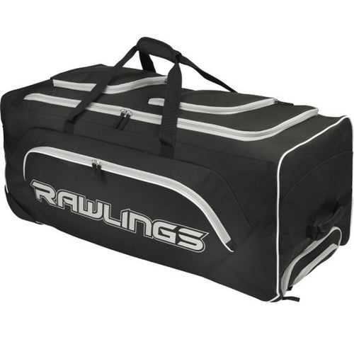 Rawlings Wheeled Catchers Bag all you need for hauling your equipment with ease.