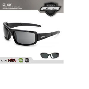 ESS Eyewear CDI MAX ultimate Sunglasses in black   #740-0297 med to large fit