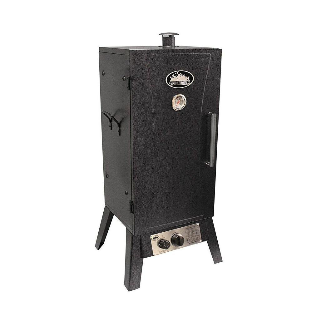 Smokehouse Outdoor Gas Smoker/Cooker with temp range of 180 to 500 degrees