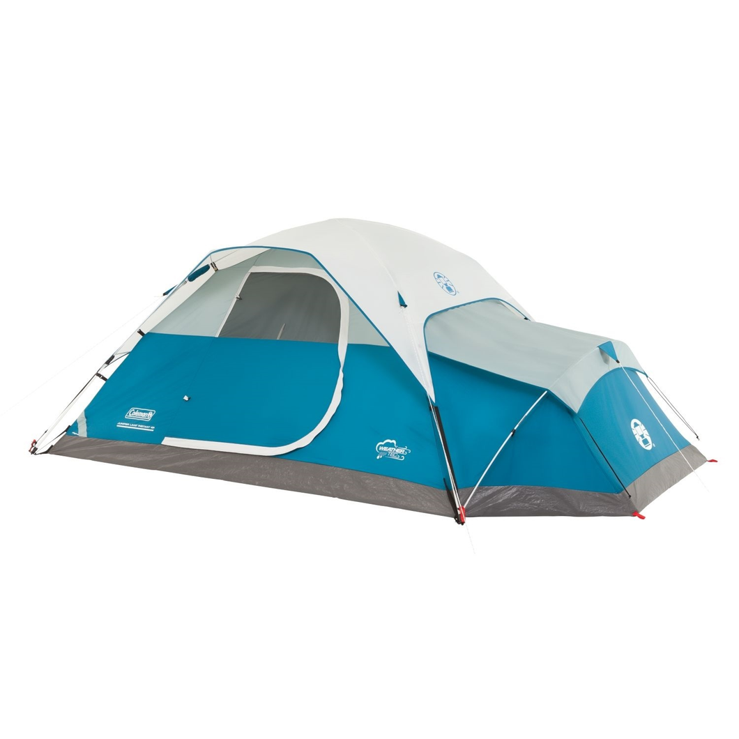 4 person instant dome tent with ventilated annex for your pet or as gear locker