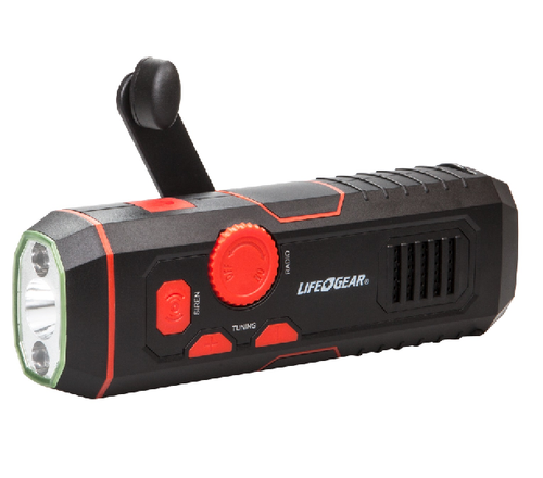 LIFE GEAR CRANK RADIO FLASHLIGHT WITH USB