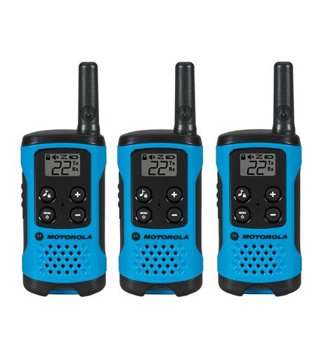 Copy of T100TP 3 Pack 16 Mile Range Blue Radios