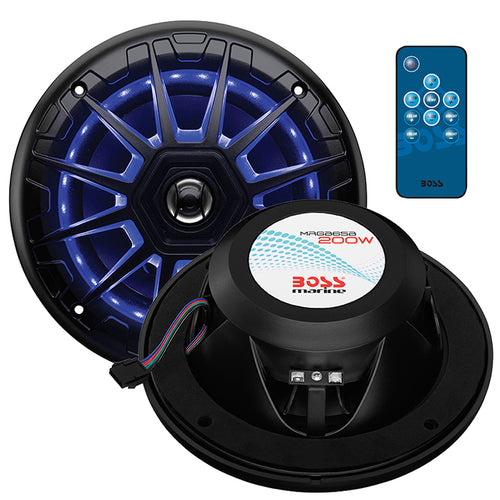 "Boss Audio Marine 6.5"" 2-Way Speaker with RGB LED Illumination (Black)"