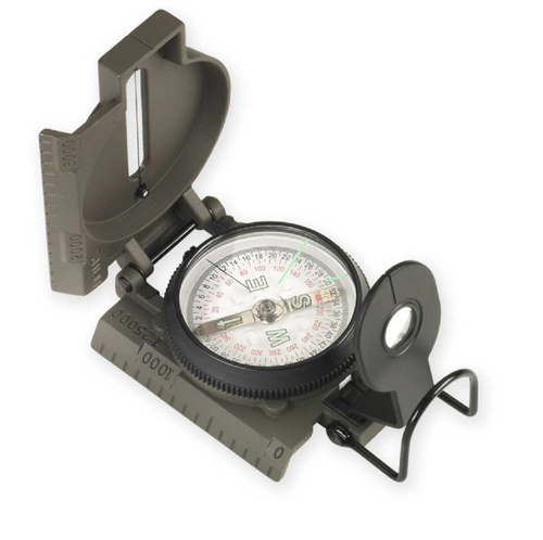 NDUR LENSATIC COMPASS WITH METAL CASE