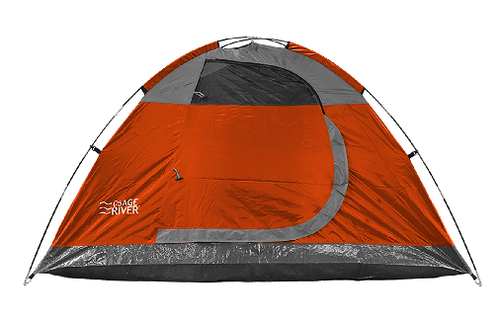 OSAGE RIVER GLADES 4-PERSON TENT - ORANGE/TITANIUM