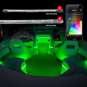 XKGlow Boat LED 12 Piece Kit with Advanced Phone App Control #XK-BOAT-ADV