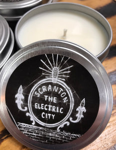 Electric City candle tin (8 oz)
