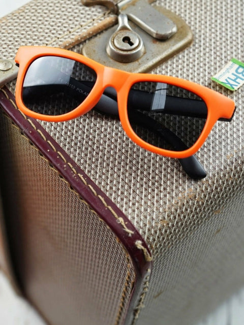 Funky Orange Polarized Sunglasses