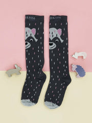 Raccoon Knee High Socks