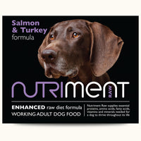 Nutriment Raw Salmon with Turkey formula – Adult 500g trays or 1.4kg chubbs