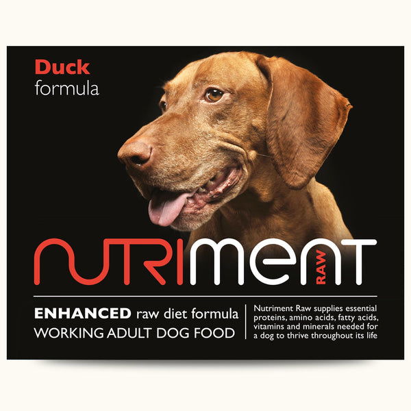 Nutriment Raw Duck formula  – Adult 500g trays or 1.4kg chubbs