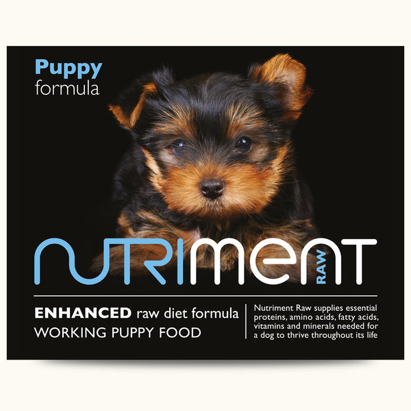 Nutriment Raw Puppy formula – Adult 500g trays or 1.4kg chubbs