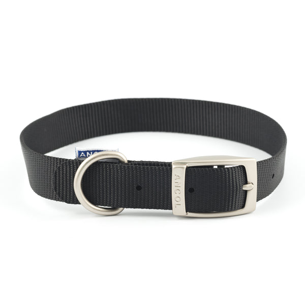 Ancol Nylon Collar Black 35-43cm Size 4