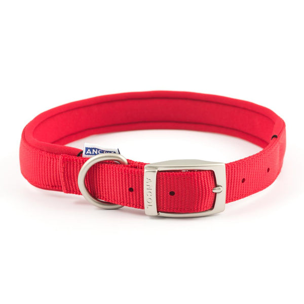 Ancol Padded Collar Red 55-63CM SIZE 8