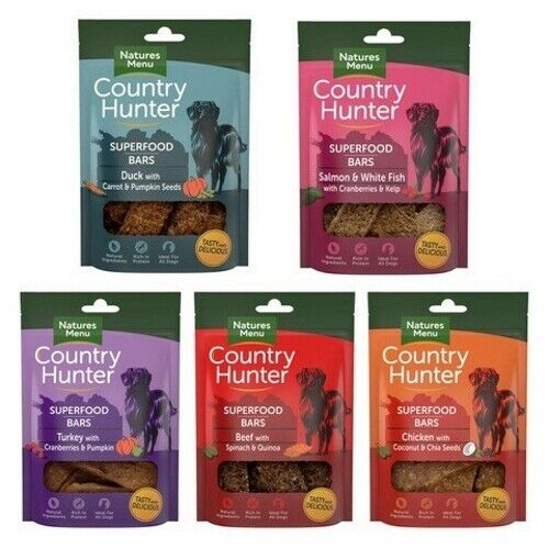 Natures Menu Dog Puppy Country Hunter Superfood Bars Natural Meat Fish Treat