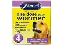 Johnson's One Dose Easy Wormer Size 4 Giant Puppy & Dog