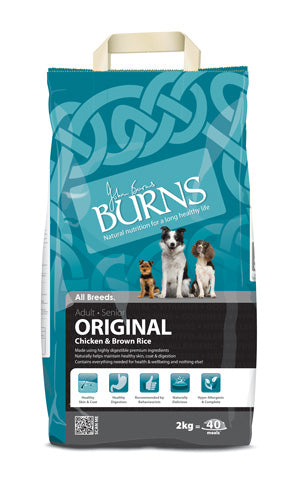 Burns Original Chicken & Brown Rice 2kg 7.5kg 15kg