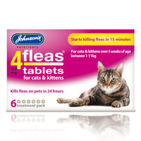 Johnson's 4Fleas Tablets For Cats & Kittens 6 Tablets