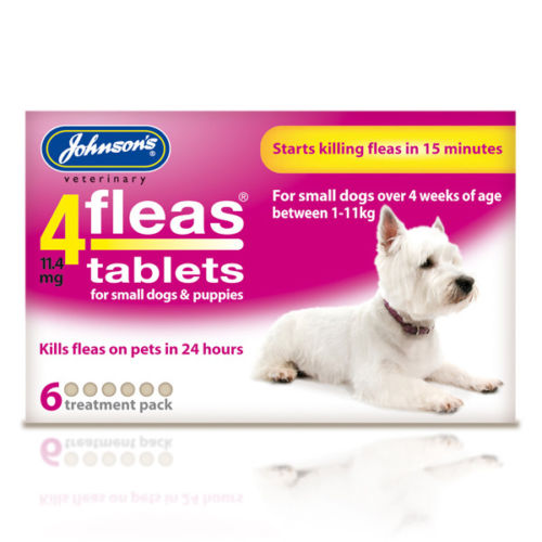 Jonhson's 4fleas Tablets - Small Dogs & Puppies Up To 11kg 6 Tablets