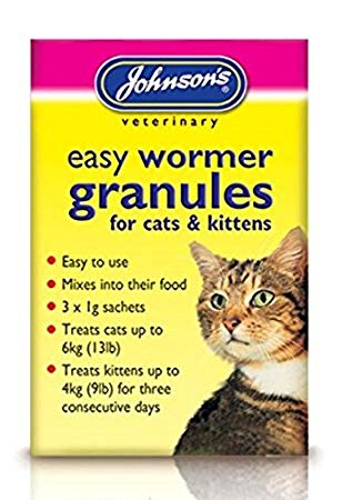 Johnson's Cat & Kitten Easy Wormer Granules 3 x 1g sachets