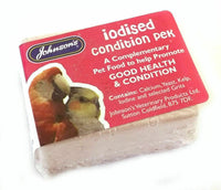 Johnsons IODISED CONDITION PEK Peks Cage Bird Aviary Iodine Grit Calcium Block