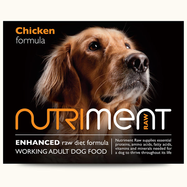 Nutriment Raw Chicken Formula – Adult 500g trays or 1.4kg chubbs