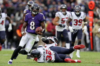 Baltimore Ravens pounced Houston Texans with their rushing game, and defense