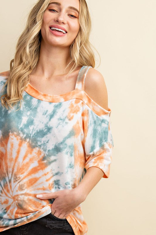 Orange Tie Dye Top