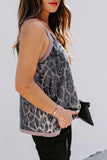 Sequin Leopard Print Tank Top