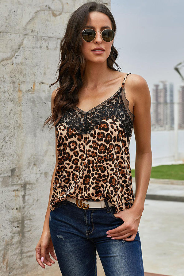 Brown Leopard Tank Top