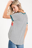 Hunter Green Striped Knot Tie Top