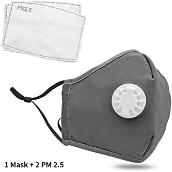Grey PM 2.5 Reusable Face Mask