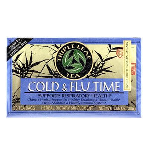 TRIPLE LEAF COLD & FLU TIME - CHINESE HERBAL TEA - Herbs Depo