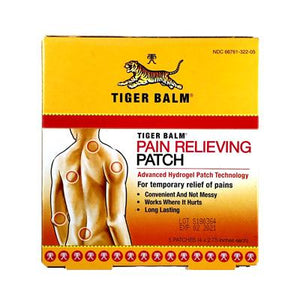 TIGER BALM PAIN RELIEVING PATCH 虎標鎮痛貼布 - Herbs Depo