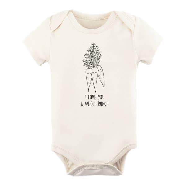 Tenth & Pine | Organic Short Sleeve Bodysuit | I Love You a Whole Bunch