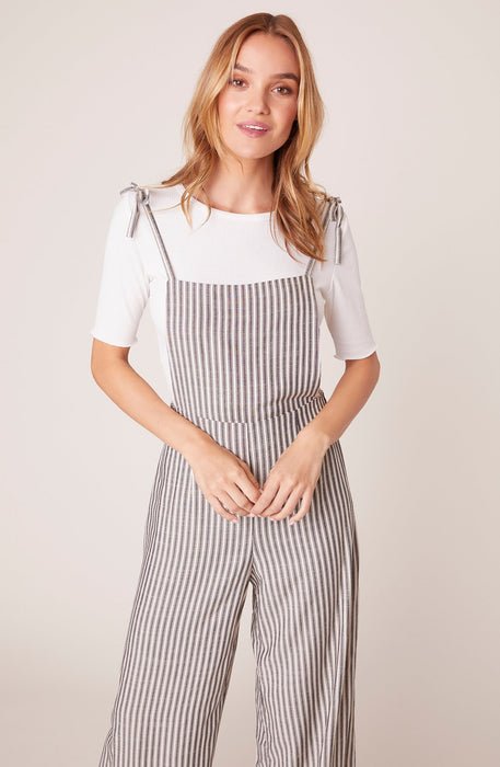 Tie on the Prize Striped Overalls