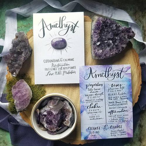 Amethyst Crystal Card