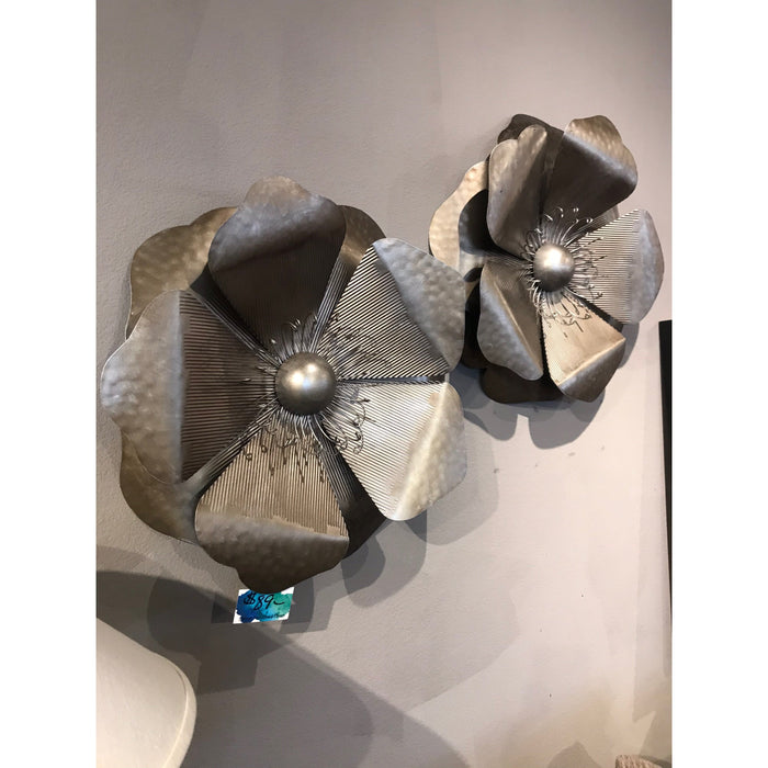 Silver Poppy Wall Decor