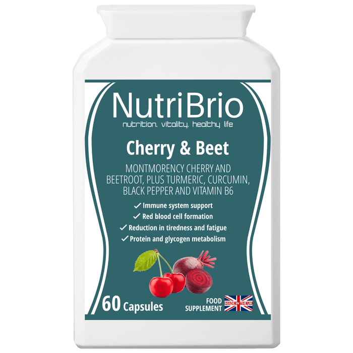 Cherry & Beet Extract Supplement UK Made - Nutri Brio
