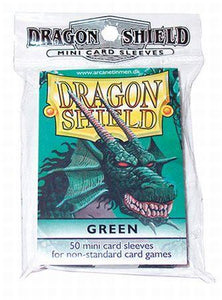 Dragon Shield Green 50ct Yugioh Sized Mini Sleeves