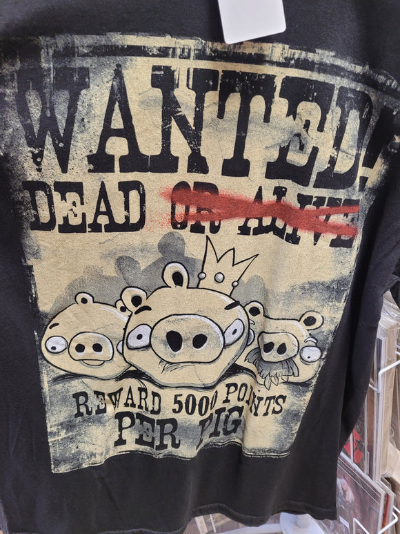 Angry Birds Wanted Dead or Poster T-Shirt