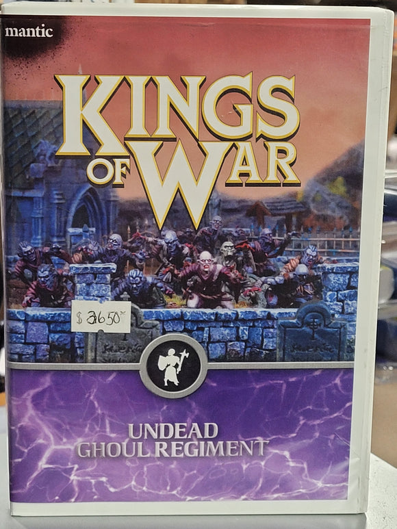 Kings of War 20 Undead Ghoul Regiment