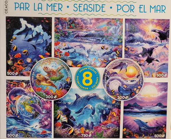 8 in 1 Puzzles Seaside 3723-03