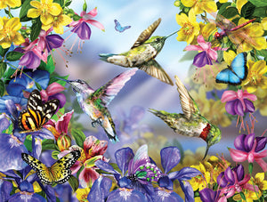 Butterflies & Hummingbirds 300 Pc