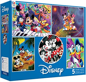 Disney 5 in 1 puzzles Mickey & friends